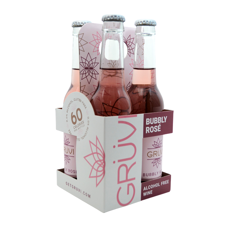 Gruvi Non-Alcoholic Bubbly Rose 4 Pack