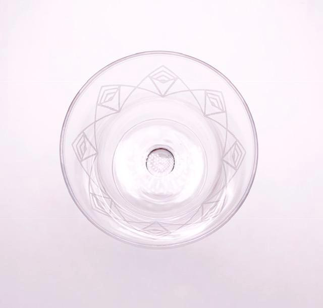 Etched Dream Deco Coupe Glass