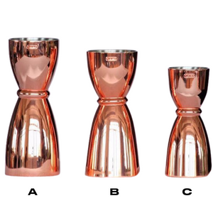 Copper Japanese Cup Jigger - available in 3 sizes