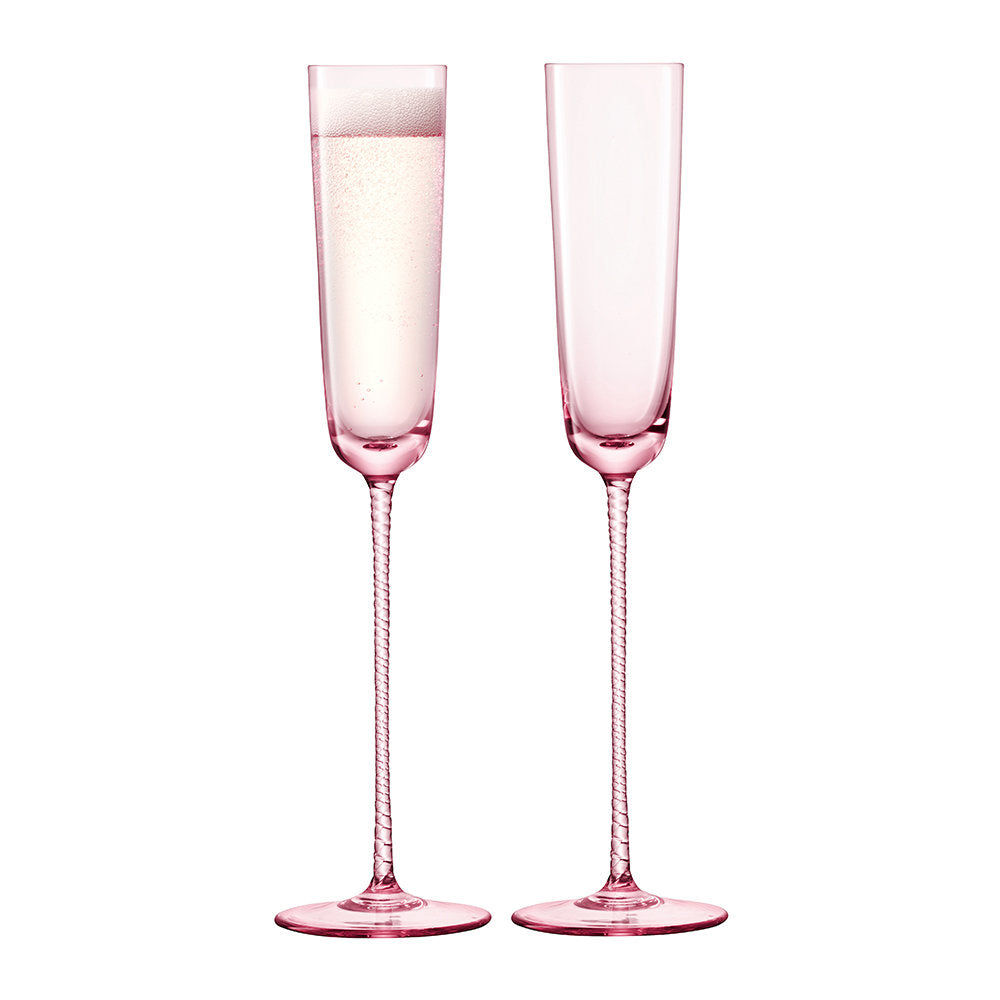 LSA International Pink Dawn Flutes (set of 2)