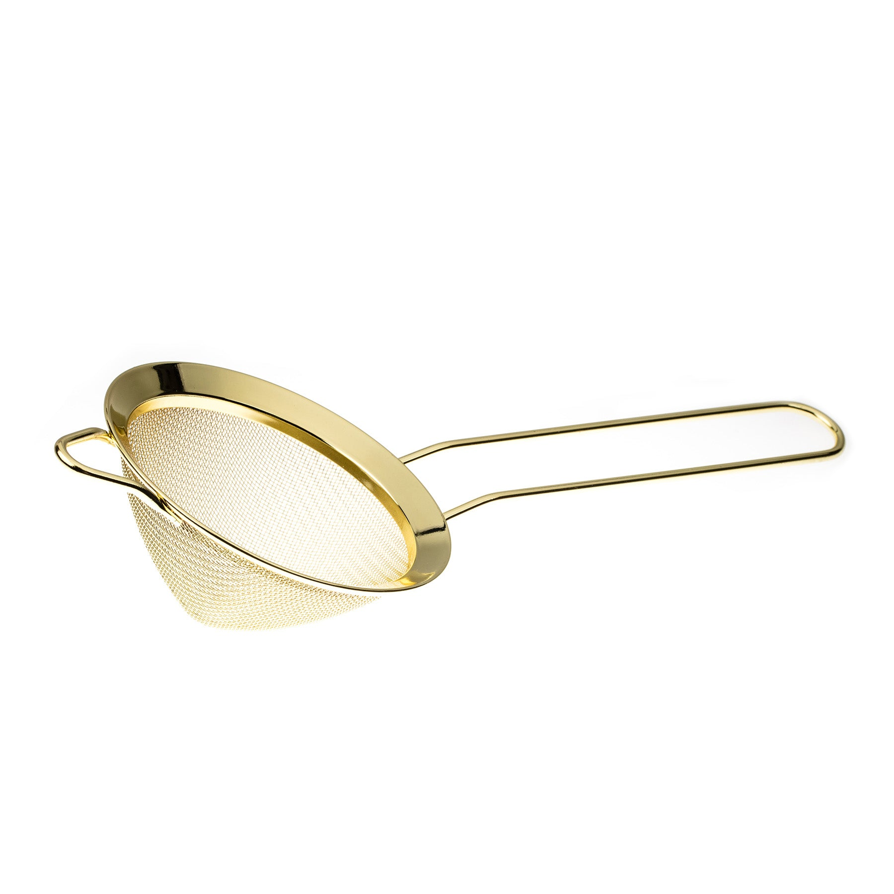 Gold Conical Mesh Strainer