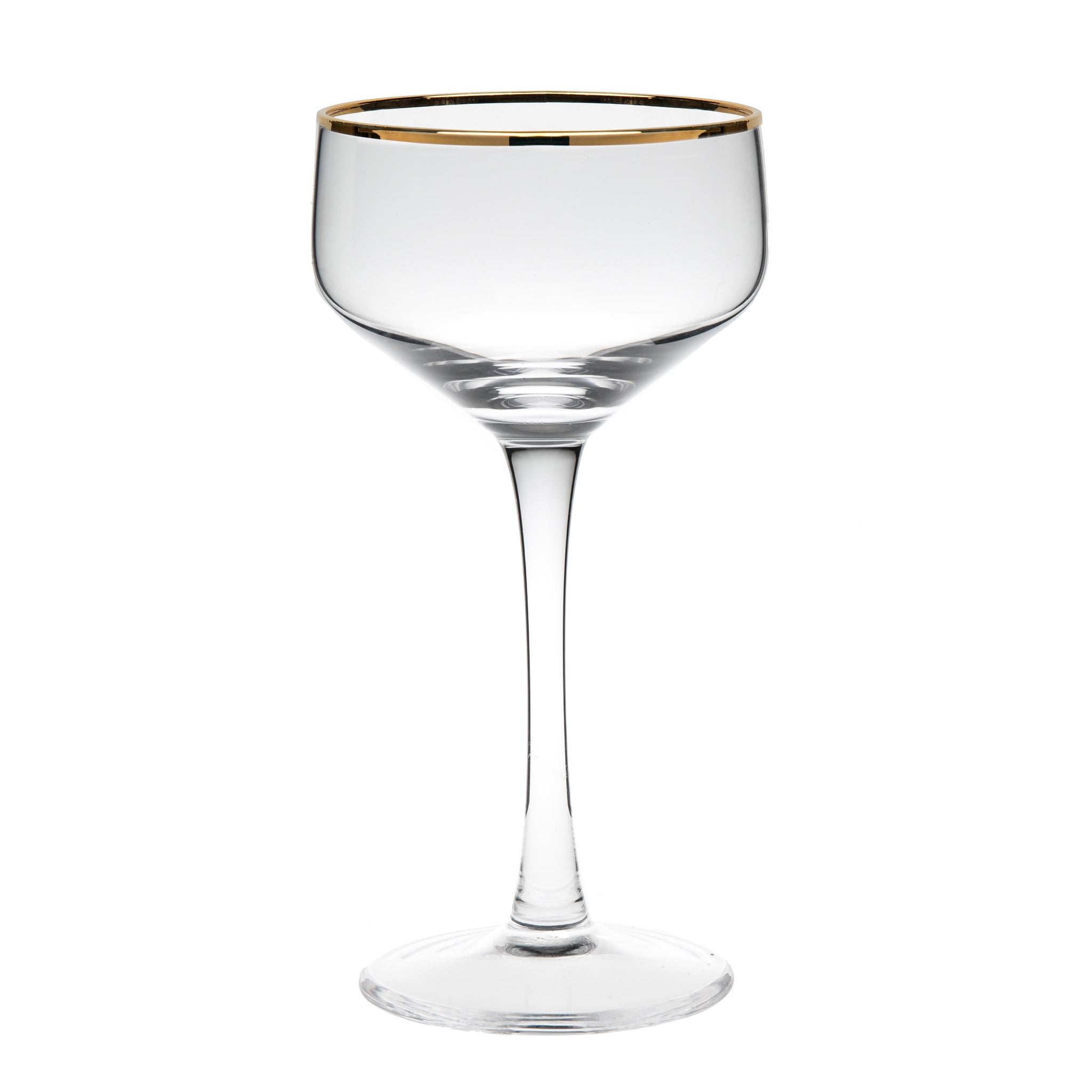 Potion House Coupe Glass Gold Rim