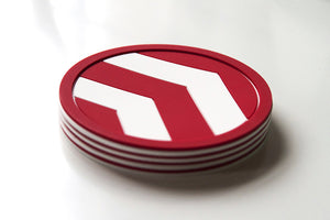 Red Chevron Coaster