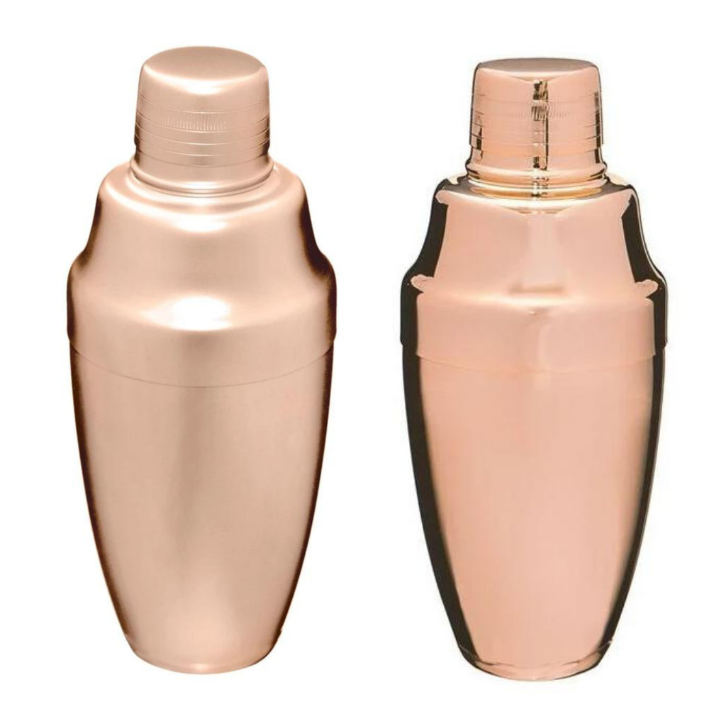 Rose Gold Japanese Cocktail Shaker 500mL (available in matte or shiny)