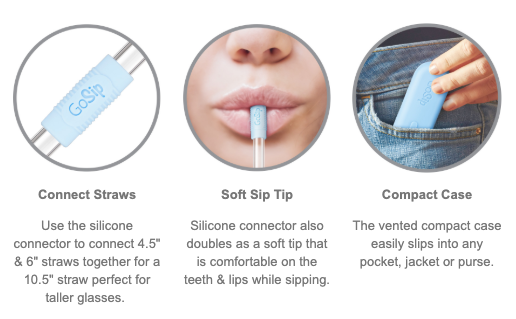 GoSip Glass Multi-Use Straw