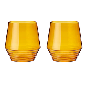 Amber Deco Tumblers Set of 2