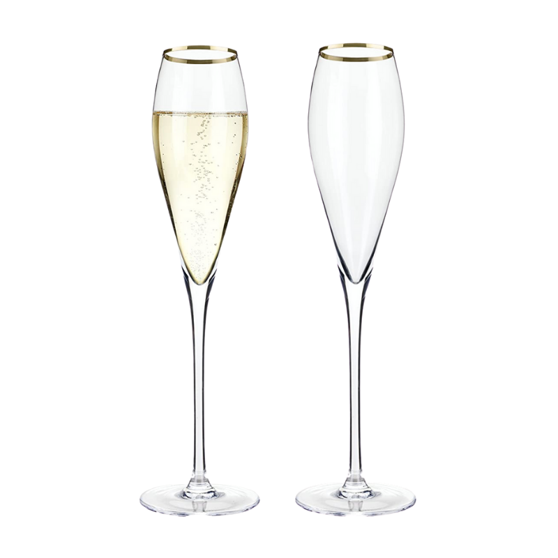 Belmont Gold Rim Champagne Set of 2