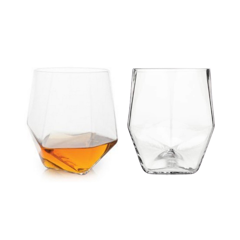 Faceted Crystal Tumblers Set of 2