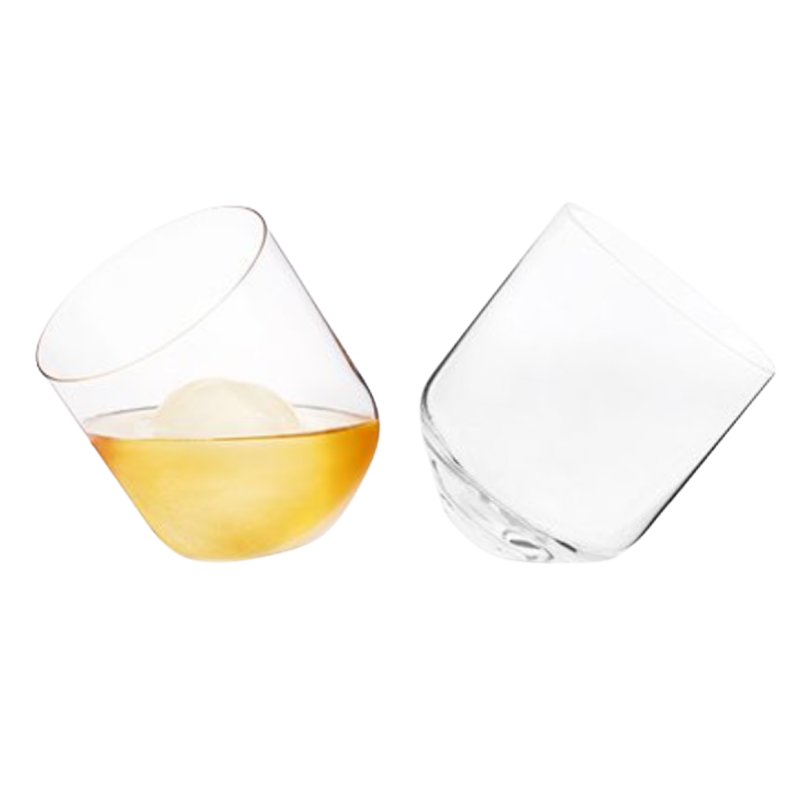 Rolling Whiskey Tumblers Set of 2