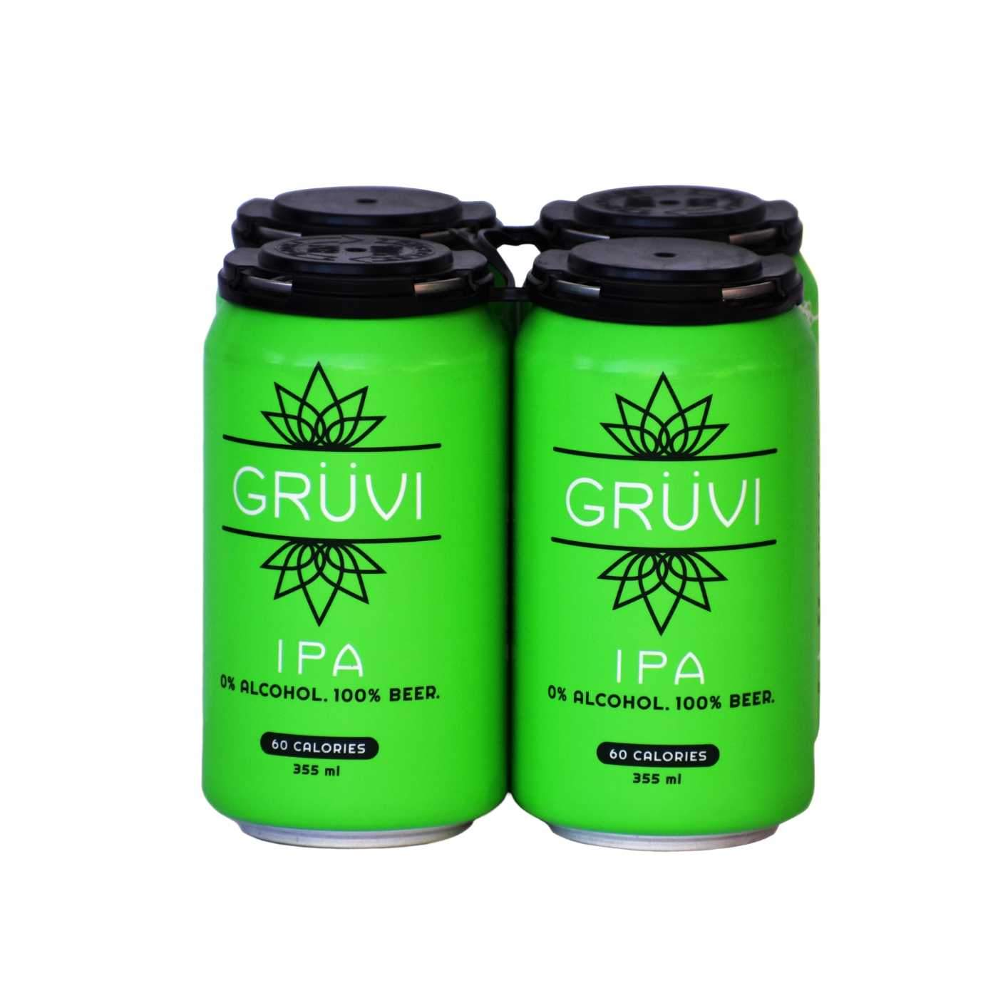 Gruvi Non-Alcoholic IPA (4 pack)
