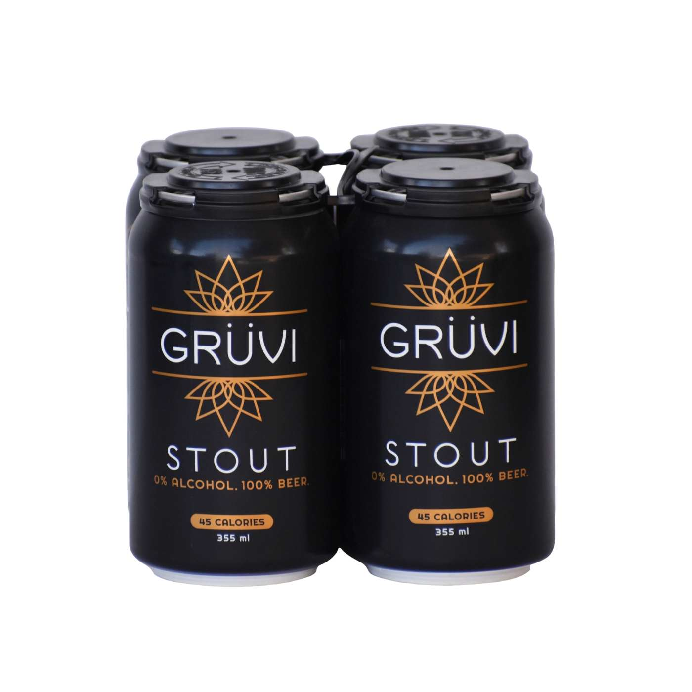 Gruvi Non-Alcoholic Stout Beer (4 pack)