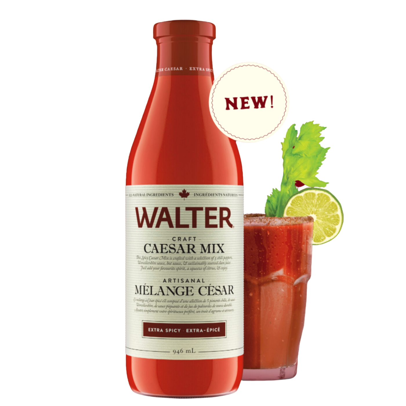 Walter All-Natural Craft Caesar Mix - Extra Spicy