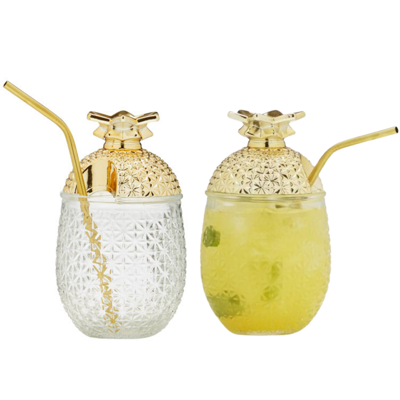 Pineapple Cocktail Glasses (set of 2)