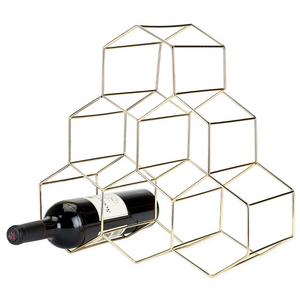 Geo Gold Wine Rack