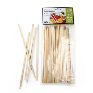Flat Bamboo Skewers - 9inches