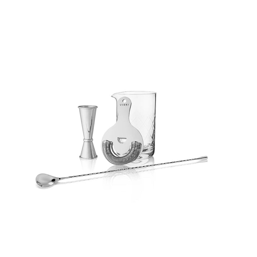 Viski Steel Stirred Cocktail Bar Kit