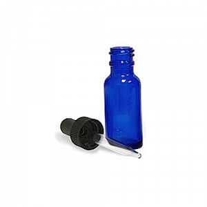 Dropper Bitters Bottle Blue 1oz.