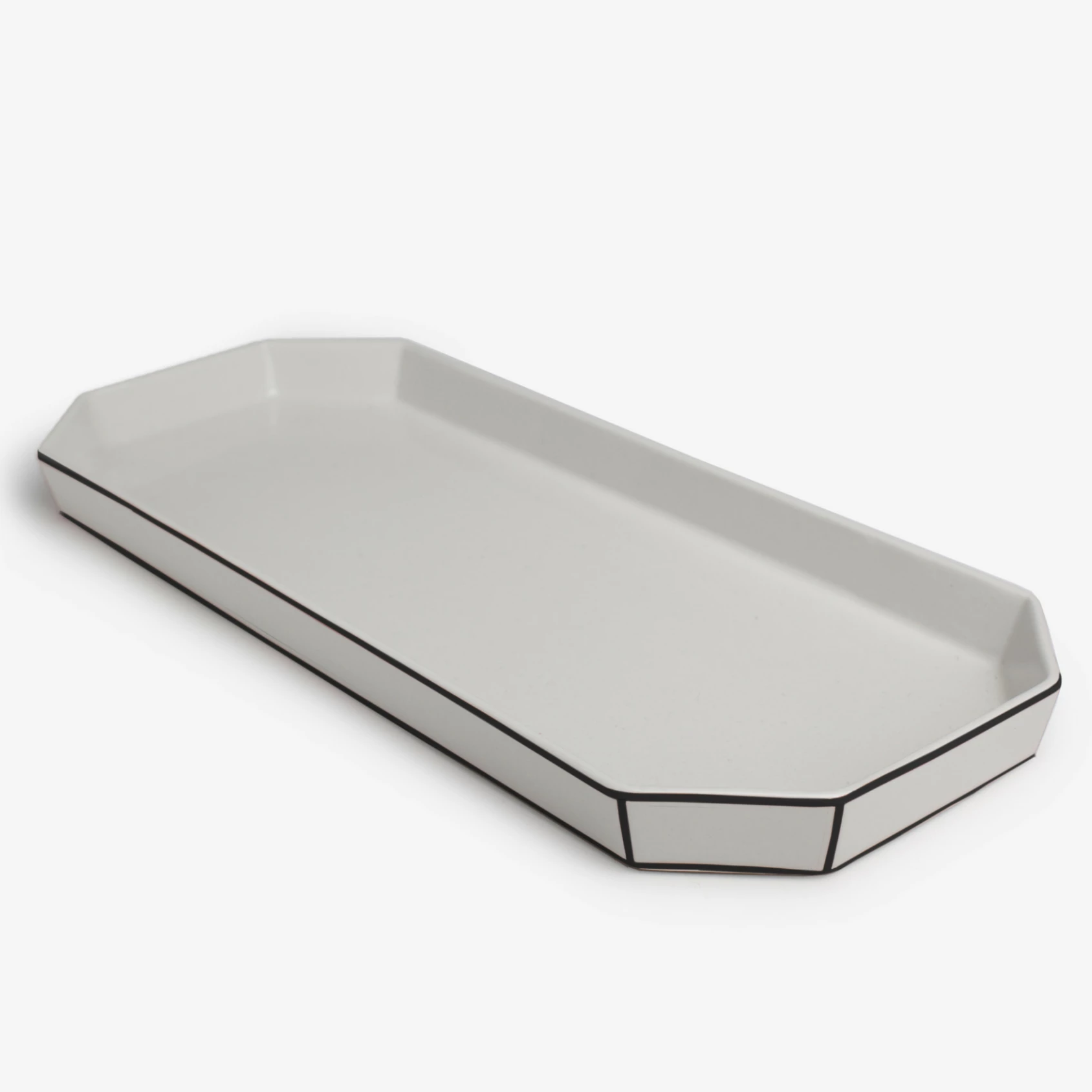 Porcelain Tray Black Detail