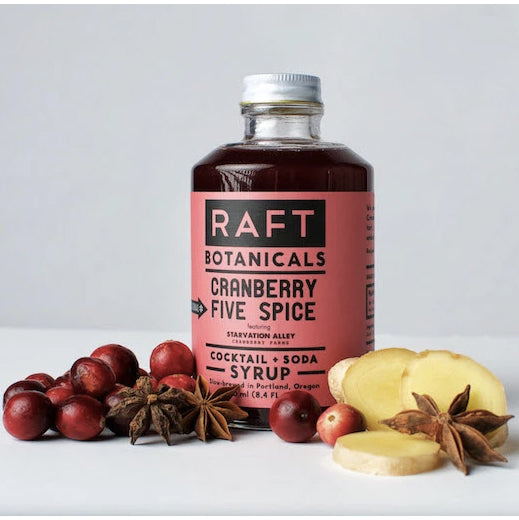Raft Cranberry 5 Spice Syrup