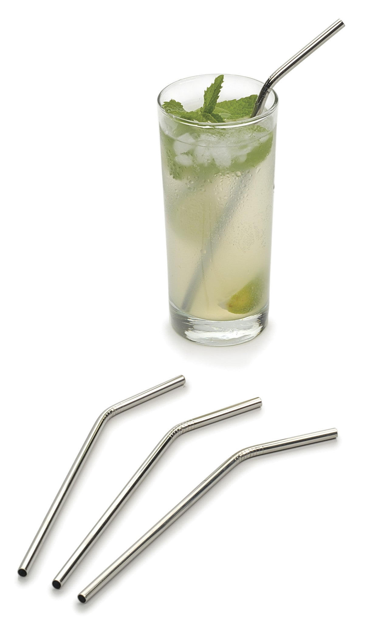 Angled Stainless Steel Straw