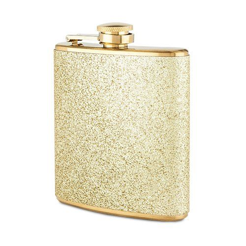 Gold Sparkle Flask