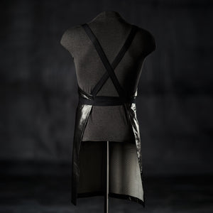 Black Leather Bar Apron