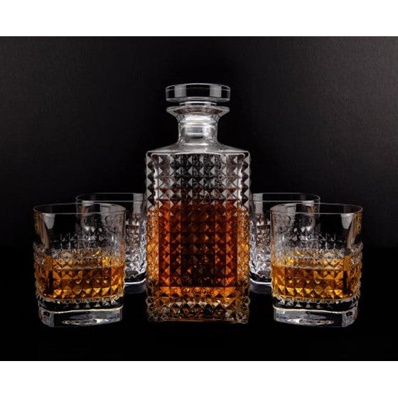 Elixir Decanter Set with 4 tumblers