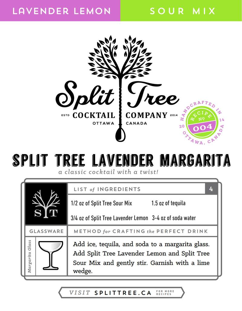 Split Tree Lavender Lemon Syrup Lavender Margarita Recipe