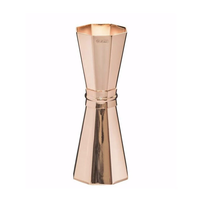 Japanese Rose Gold Faceted Jigger  Shiny