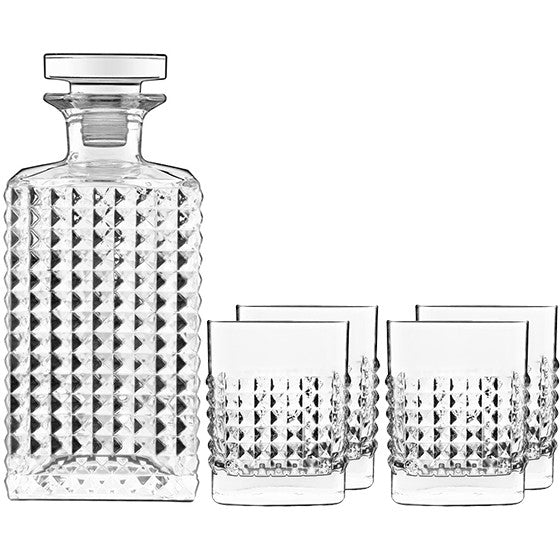 Elixir Decanter Set with 4 glasses