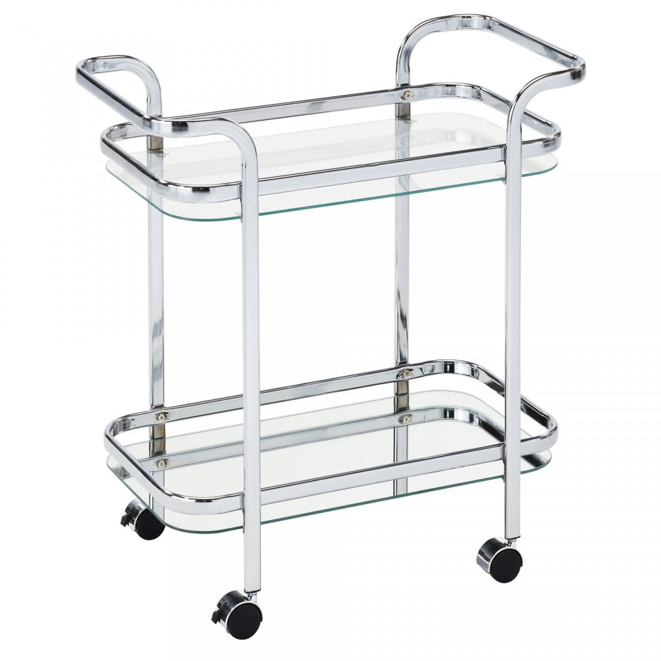 Zedd 2-Tier Chrome Trolley