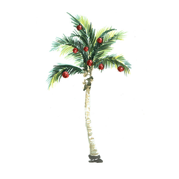 Holiday Palm Tree Greeting Card
