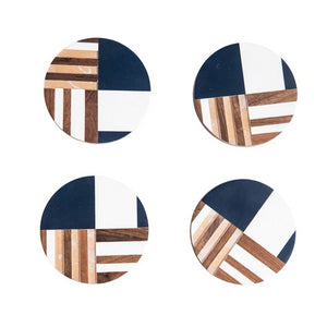 Nautical Geometric Coasters (set of 4)