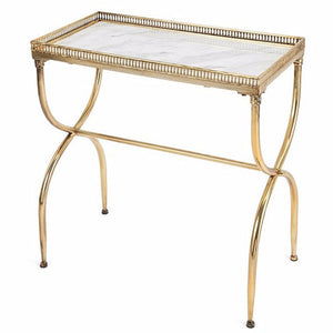 Gold Rectagular Marble Table