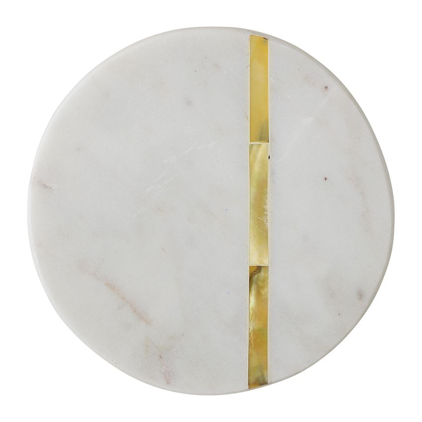 Gold Stripe White Marble Coasters (set of 4)