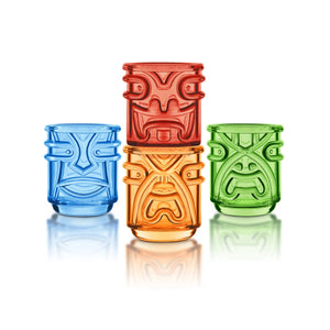 Polynesian God Tiki Glasses