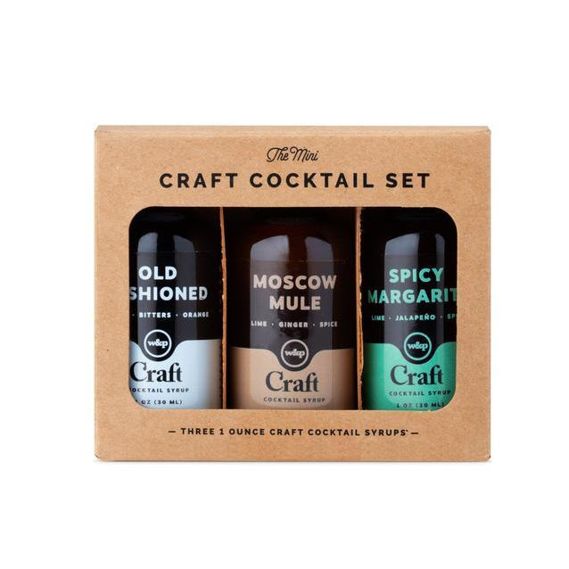 W&P Mini Cocktail Syrup 3-Pack Set