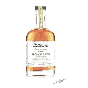 Dillon's Rose Gin Greeting Card