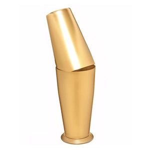 Gold Japanese Boston Shaker - available Matte or Shiny