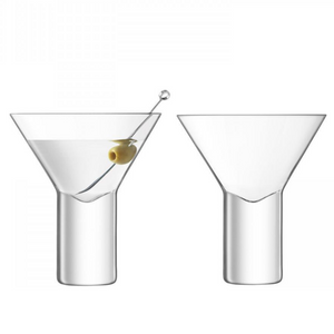 LSA Stemless Martini Glasses (set of 2)