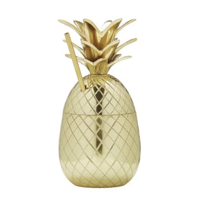Brass Pineapple Tiki Straw