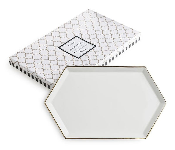 White gold serving tray cocktail emporium for Option house com