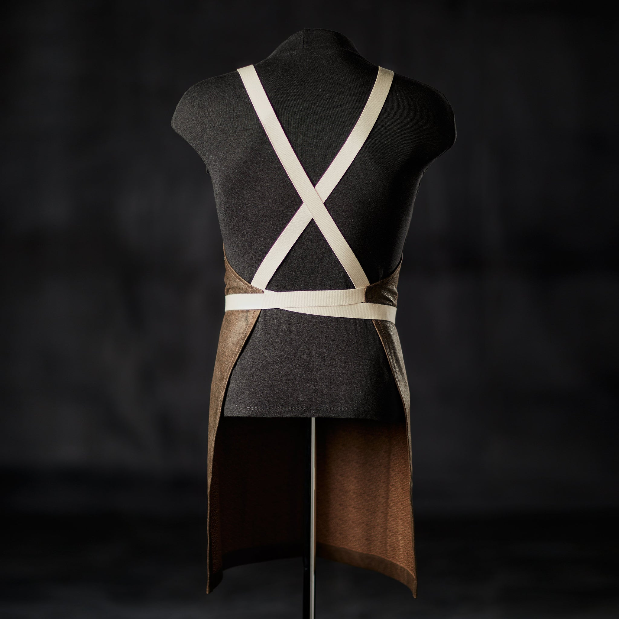 Brown Leather Bar Apron