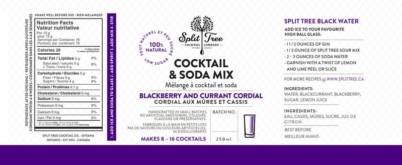 Split Tree Blackberry & Blackcurrant Cordial