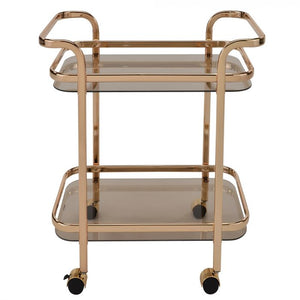 Zedd 2-Tier Gold Trolley
