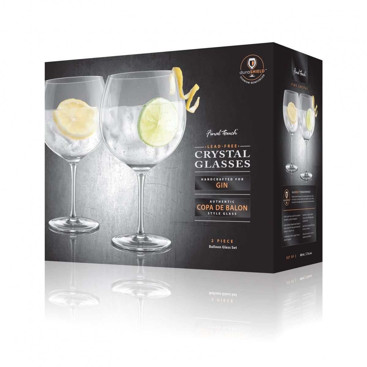 Final Touch Gin & Tonic Glasses (set of 2)