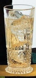 Japanese Diamond Etched Collins Glass