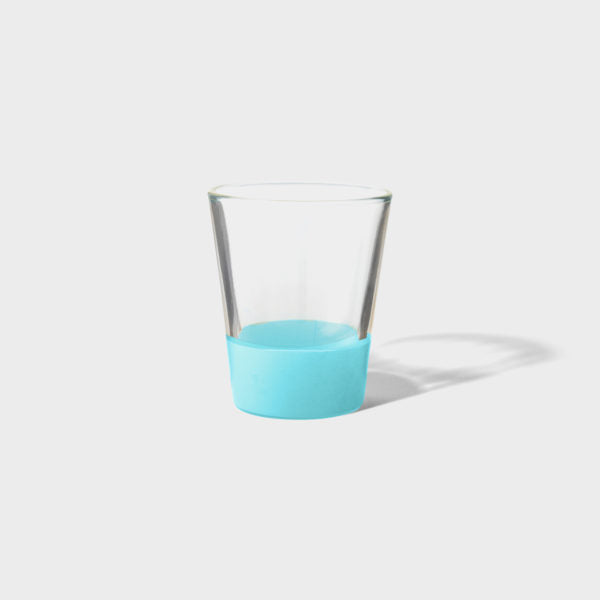 Teal Dipped Shot Glass