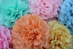 Tissue Paper Pom Poms- Pick Your Own Colors