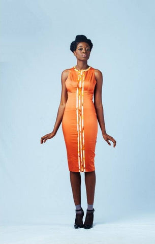 Ameyo Orange Dress